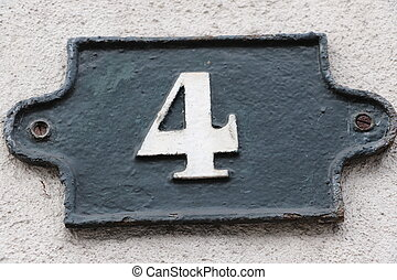 Number 4 - House number 4