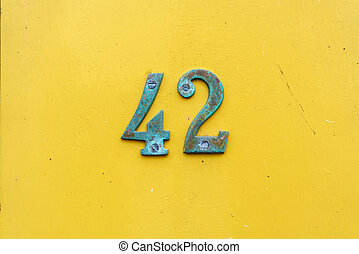 number 42 - House number forty two (42)