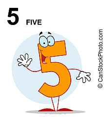 Number 5 Five Guy With Text