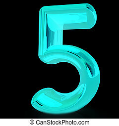 """Number """"5""""- five"""
