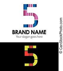Number 5 logo company vector design