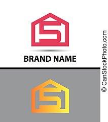 Number 5 logo. Vector logotype
