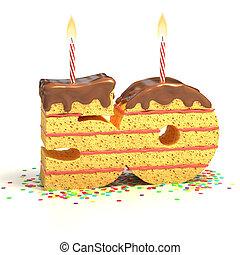 number 50 shaped cake - Chocolate birthday cake surrounded...