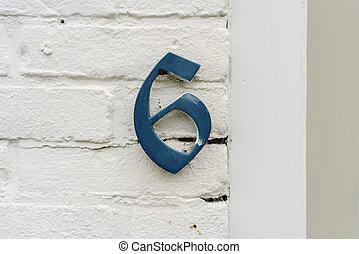 Number 6 - Bronze house number (6)