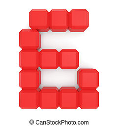 number 6 cubic red