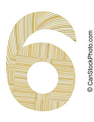Number 6 made from toothpick