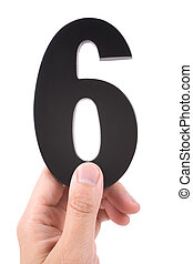 number 6 with white background