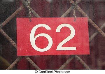 Number 62 - Number