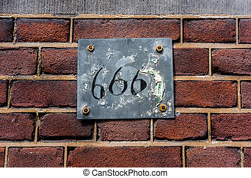 number 666 - house number six hundred and sixty six (666)