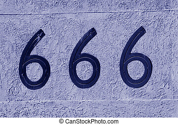 Number 666 sign and symbol - Display number 666 sign and ...