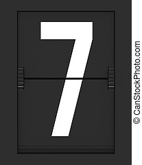 Number 7 from mechanical timetable board