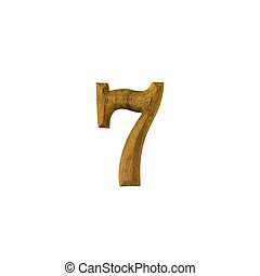 Number 7 made of wood