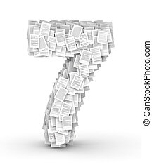 Number 7, page documents font - Number 7, from thousands of...