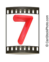 "Number ""7""- seven. The film strip - Number ""7""- seven on ..."