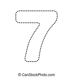Number 8 sign design template element. vector. black dashed icon on ...