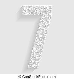 Number 7. Vector Floral Invitation
