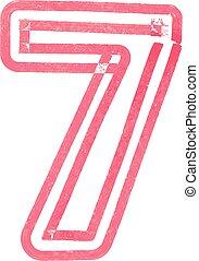 Number 7 vector illustration