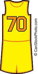 Creative design of 70 in basket shirt