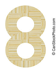 Number 8 made from toothpick
