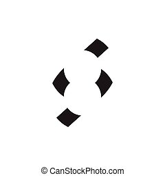number 8 negative space logo vector