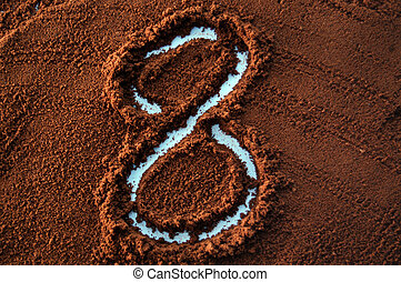 number 8 on cofee - 8