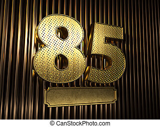 number 85 (number eighty-five) with small holes