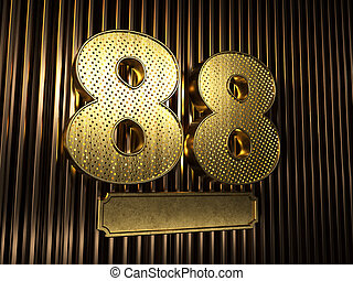 number 88 (number eighty-eight) with small holes