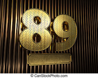 number 89 (number eighty-nine) with small holes