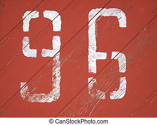 number 96 painted on a colored wood texture background...