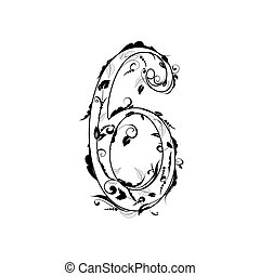 number alphabet, foliage