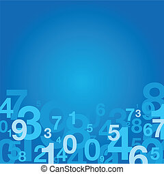 number background - blue number background