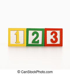 Number blocks.
