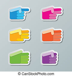 number counting hands - colorful paper number counting hands