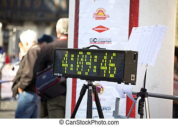 Number display for Marathon - Number display, Catania...