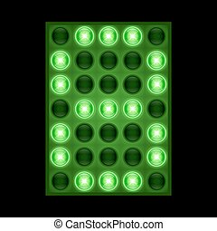 Number eight 8 on green LED display. vector eps 10