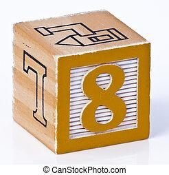 Number Eight Childrens Blocks
