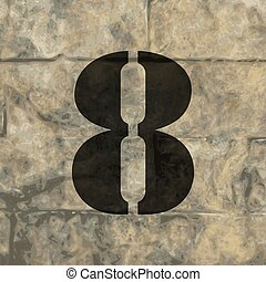 number Eight icon symbol Flat modern web design with long shadow and space for your text. Vector