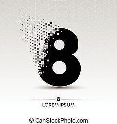 Number eight logo vector design illustration