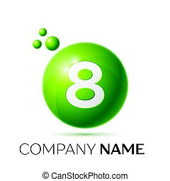 Number eight splash logo.