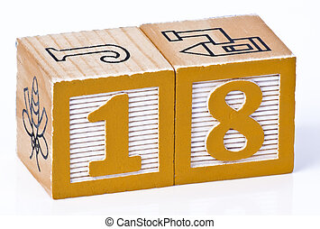 Number Eighteen Childrens Blocks