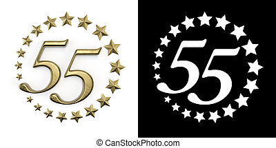 Number fifty-five years celebration - Number 55 (number ...