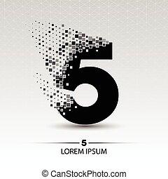 Number five logo vector design illustration