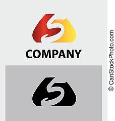 Number five logo. Vector logotype