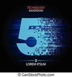 Number five logo vector technology design