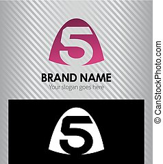 Number five logo.Logo 5 vector temp