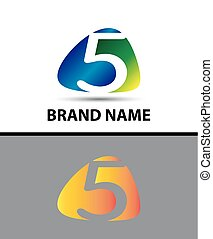 Number five logo.Logo 5 vector