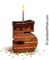 number five shaped chocolate cake - number five shaped...