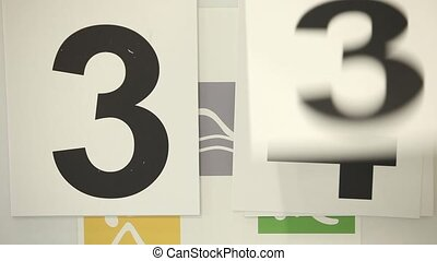 number for Sport scoreboard for ratings - turn over number...