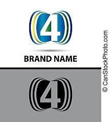 Number four 4 logo