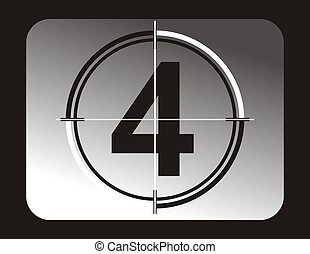 four - number four background